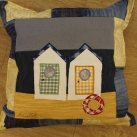 <p>Seaside themed cushions &pound;35</p>