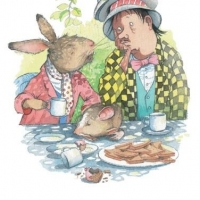 <p><strong>The March Hare and the Hatter were having tea</strong><br />