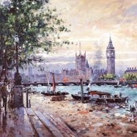 <p>View Across the Thames<br />
